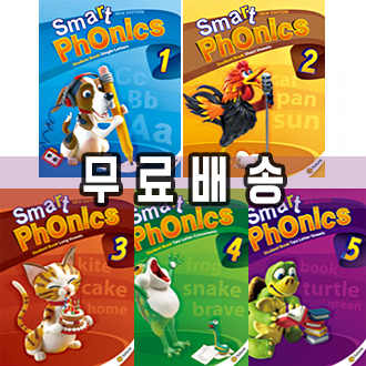 NEW 스마트파닉스 Smart phonics 1 2 3 4 5 선택 (student book+CD+work book) New edition 이퓨쳐